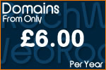 Domains from £6 per year